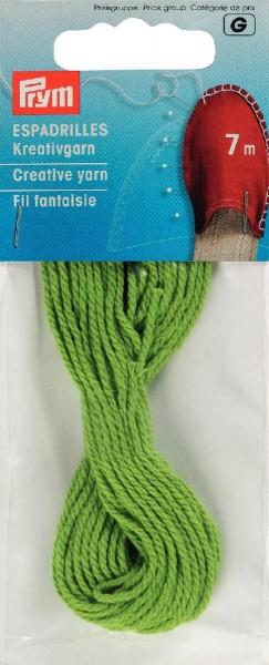 Espadrilles Kreativgarn, grün