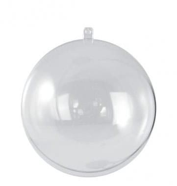 Plastik-Kugel, 2tlg., 18 cm ø kristall